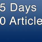 blogging expirement project 150x150 50 Posts In 25 Days Project: Week Five Results