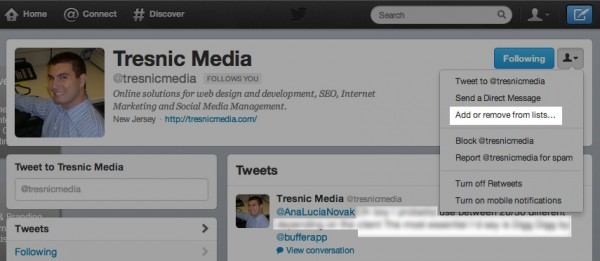 how to easily add people to lists in hootsuite