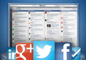 Manage your social media profiles from one HootSuite dashboard