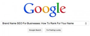 Corporate SEO Brand Name Tips