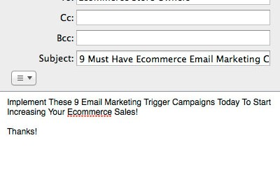 Ecommerce Email Marketing Campaigns