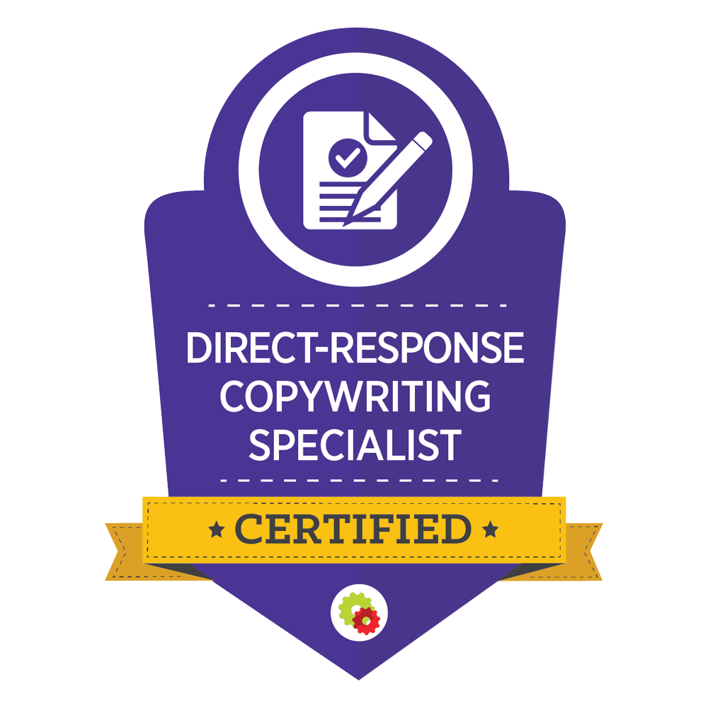 Certified Direct Response Copywriting Specialist